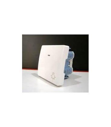 Pulsador de luz con luminoso 2 modulos blanco - Pulsadores de luz ...
