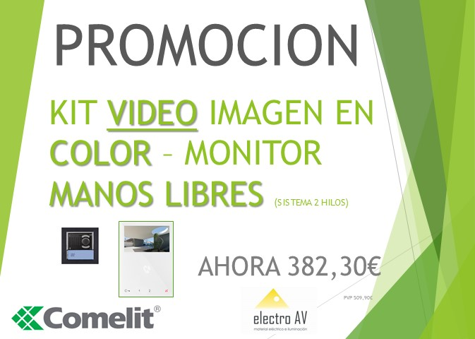 KIT VIDEO PORTERO IMAGEN EN COLOR