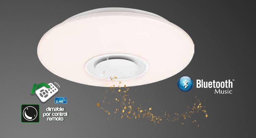 PLAFON LED 50CM 30W CON ALTAVOZ BLUETOOTH CONTROL REMOTO DIMABLE